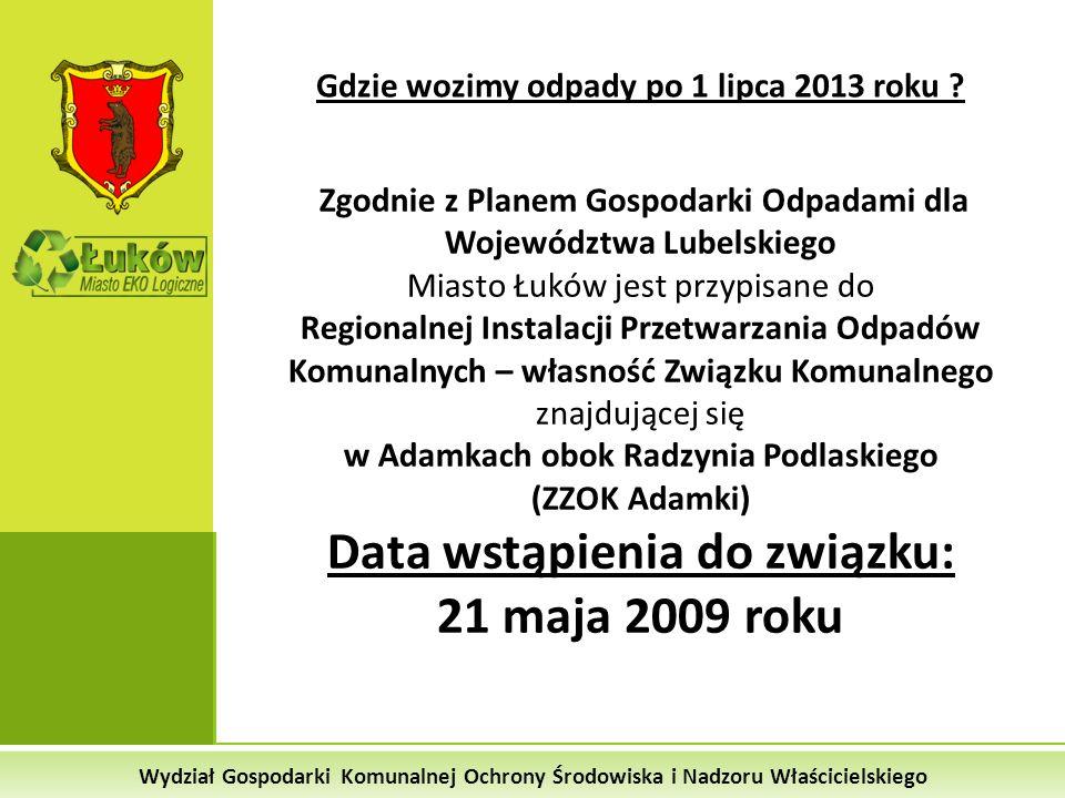 Data wstąpienia do związku: 21 maja 2009 roku