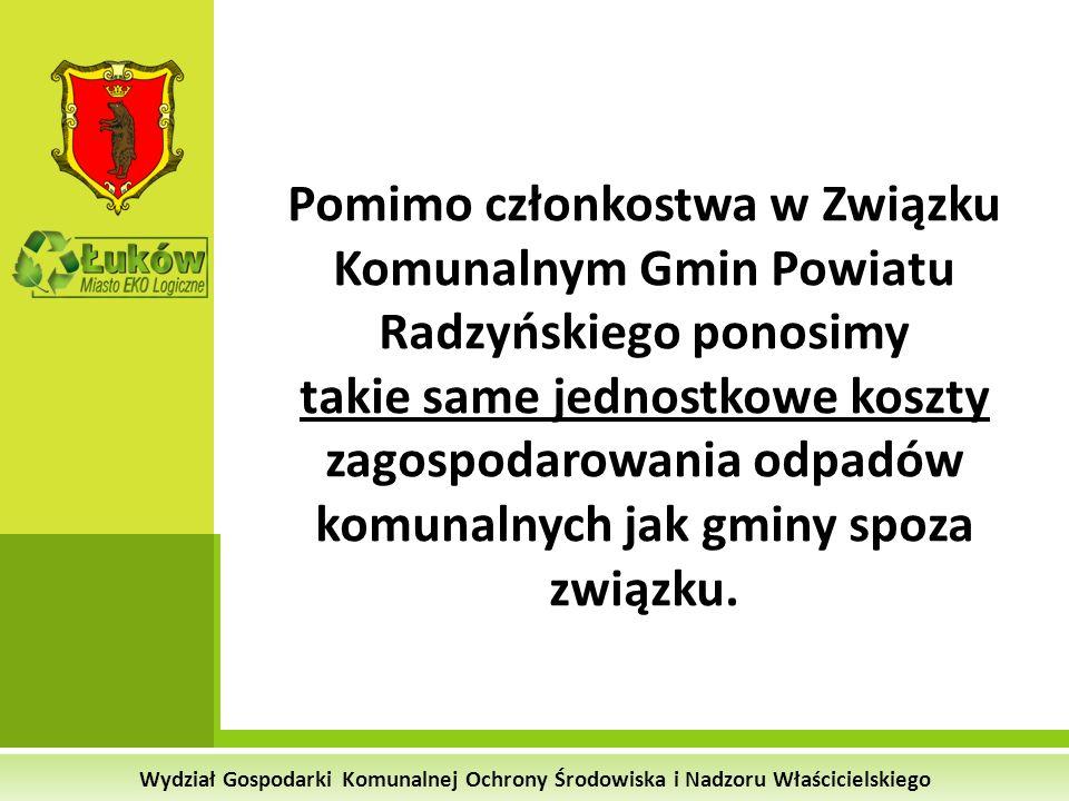 Pomimo członkostwa w Związku Komunalnym Gmin Powiatu Radzyńskiego ponosimy takie same jednostkowe koszty zagospodarowania odpadów komunalnych jak gminy spoza związku.