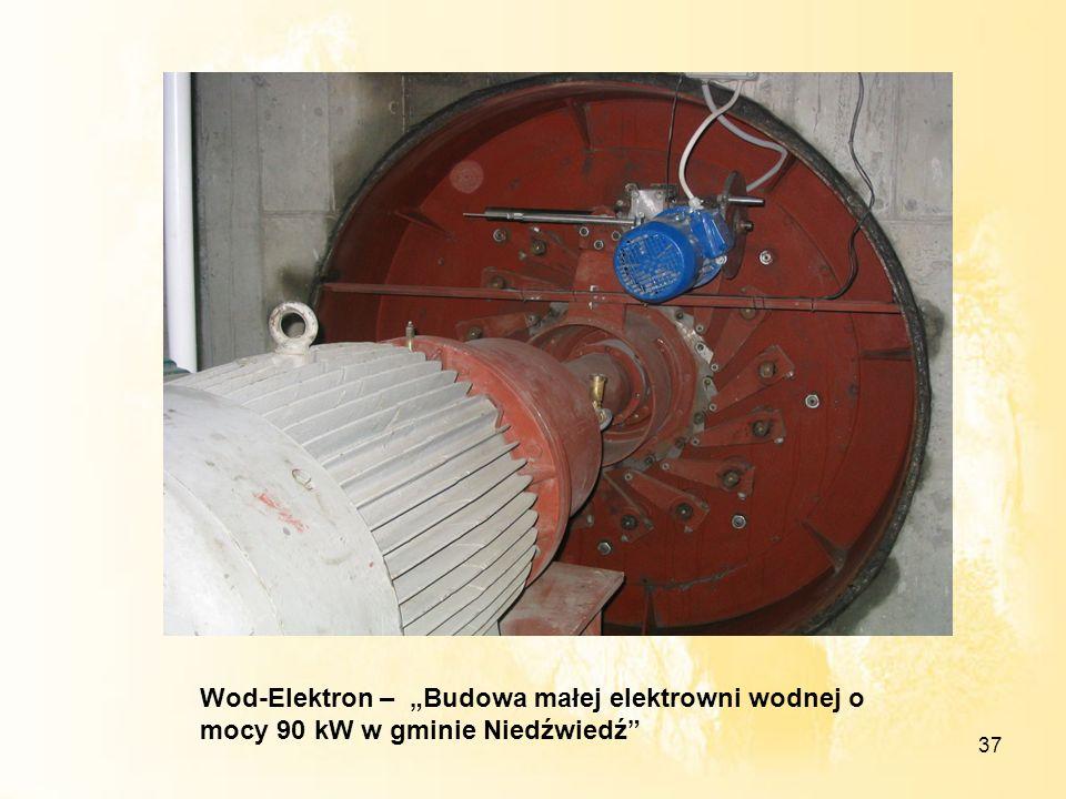 """Wod-Elektron – """"Budowa małej elektrowni wodnej o mocy 90 kW w gminie Niedźwiedź"""