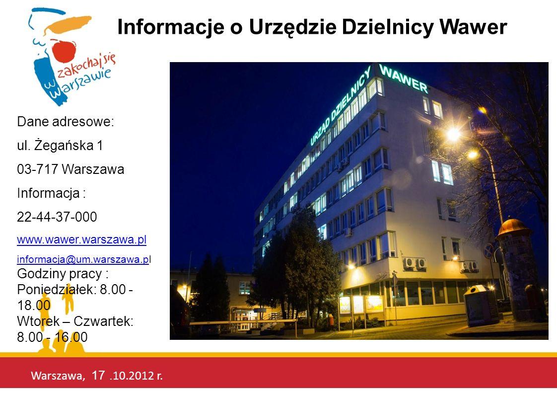 Informacje o Urzędzie Dzielnicy Wawer