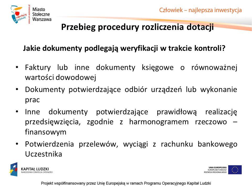 Jakie dokumenty podlegają weryfikacji w trakcie kontroli