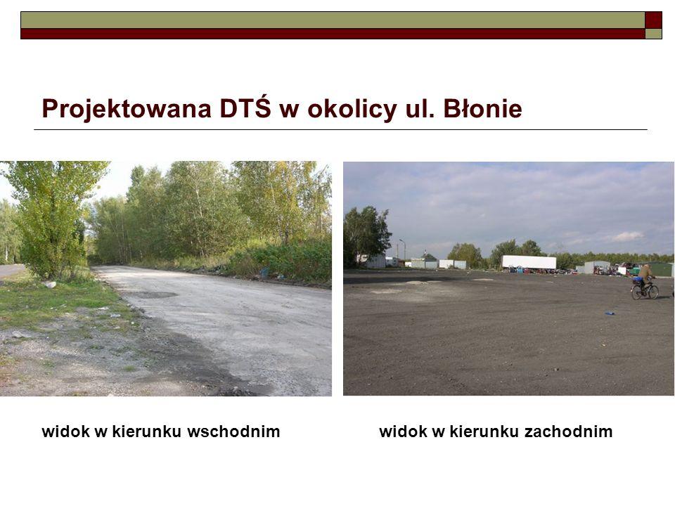 Projektowana DTŚ w okolicy ul. Błonie