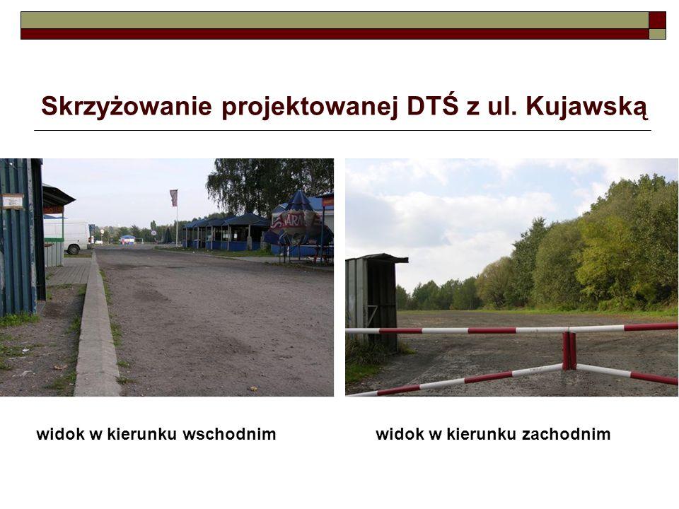 Skrzyżowanie projektowanej DTŚ z ul. Kujawską