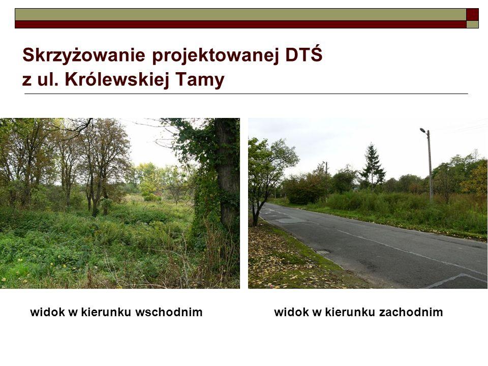 Skrzyżowanie projektowanej DTŚ z ul. Królewskiej Tamy