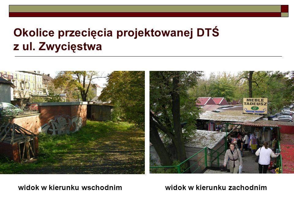 Okolice przecięcia projektowanej DTŚ z ul. Zwycięstwa