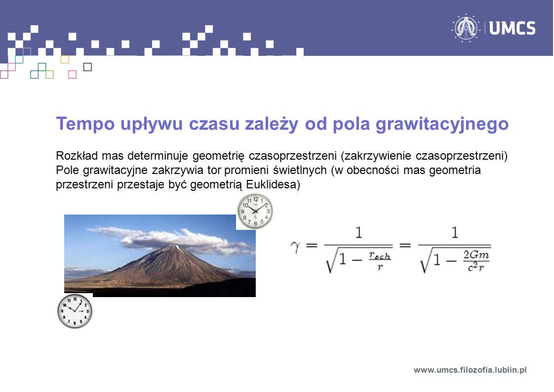 Tempo upływu czasu zależy od pola grawitacyjnego