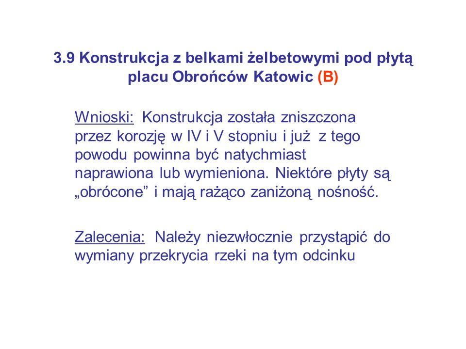 3.9 Konstrukcja z belkami żelbetowymi pod płytą placu Obrońców Katowic (B)