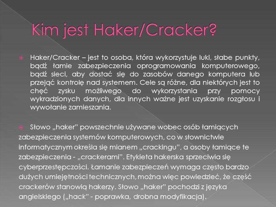 Kim jest Haker/Cracker