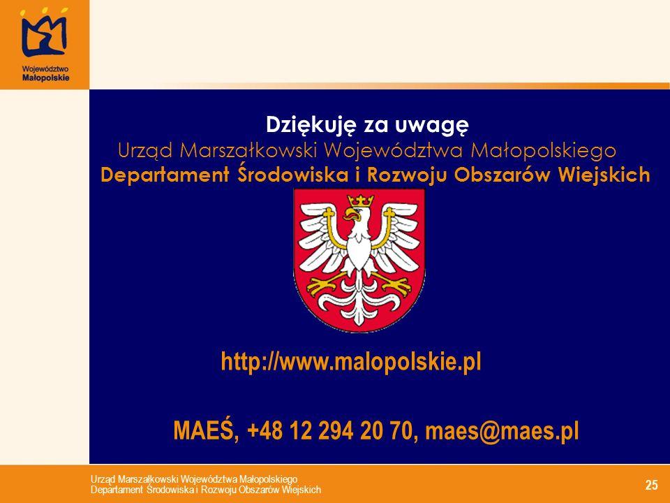 http://www.malopolskie.pl MAEŚ, +48 12 294 20 70, maes@maes.pl