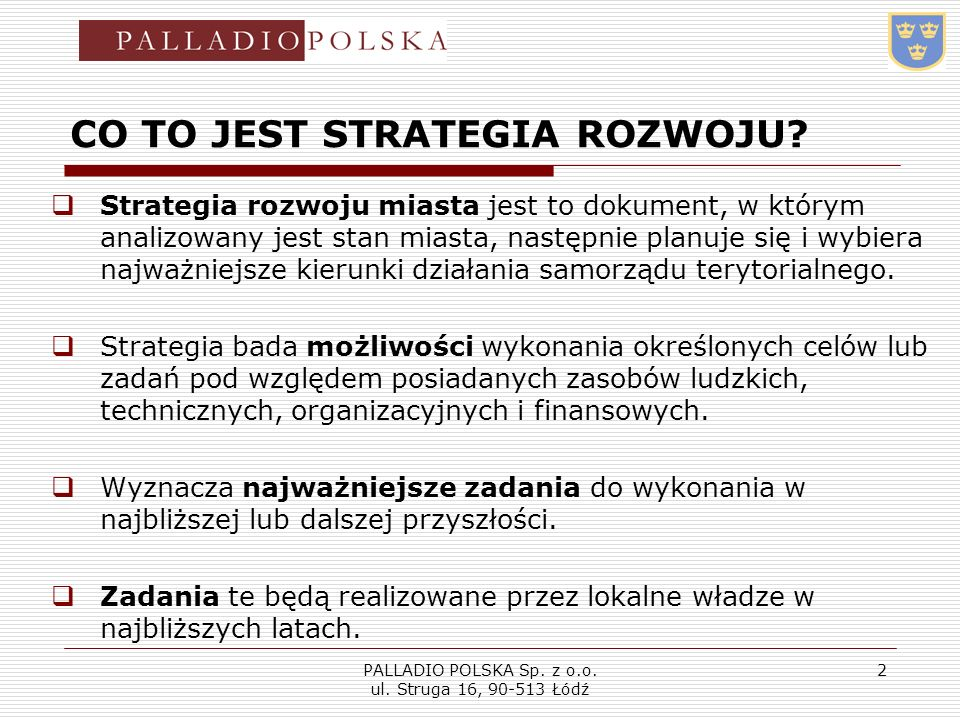 CO TO JEST STRATEGIA ROZWOJU