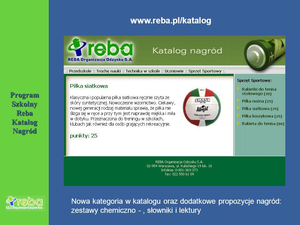 Program Szkolny Reba Katalog Nagród