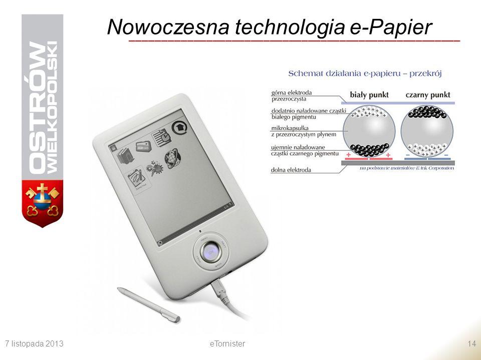 Nowoczesna technologia e-Papier