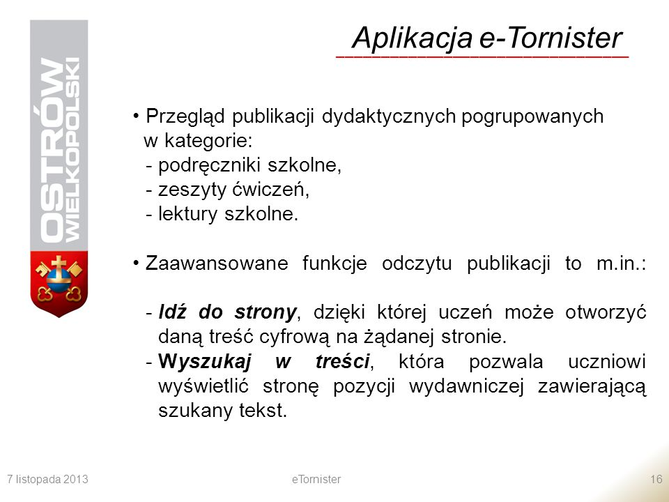 Aplikacja e-Tornister
