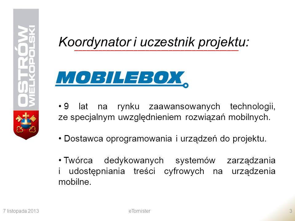 Koordynator i uczestnik projektu: