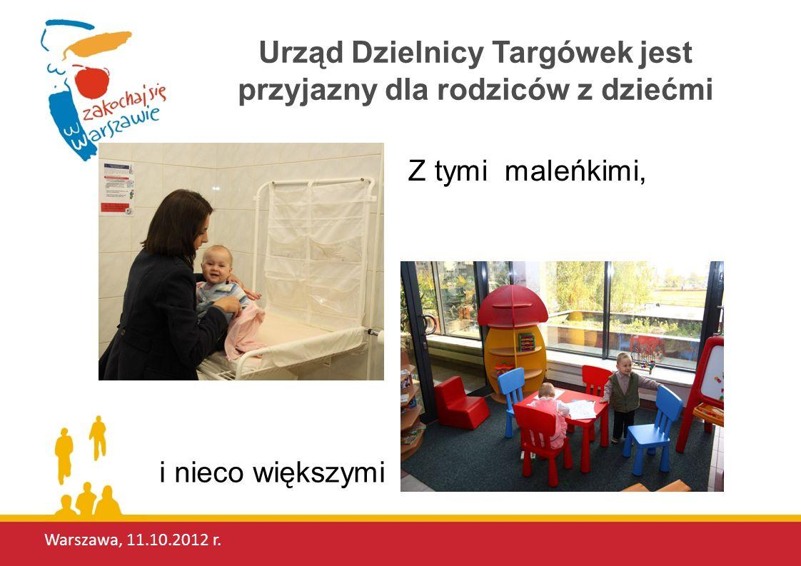 Urząd Dzielnicy Targówek jest przyjazny dla rodziców z dziećmi