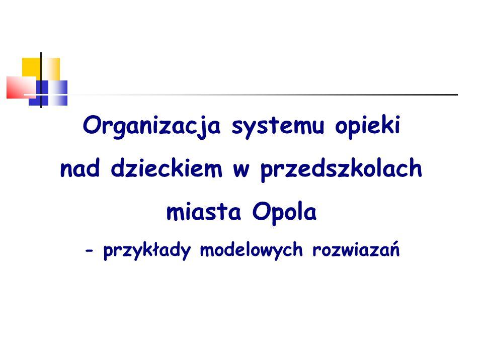 Organizacja systemu opieki nad dzieckiem w przedszkolach miasta Opola