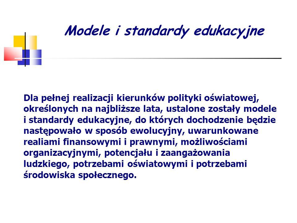 Modele i standardy edukacyjne