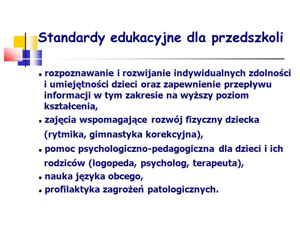 Standardy edukacyjne dla przedszkoli