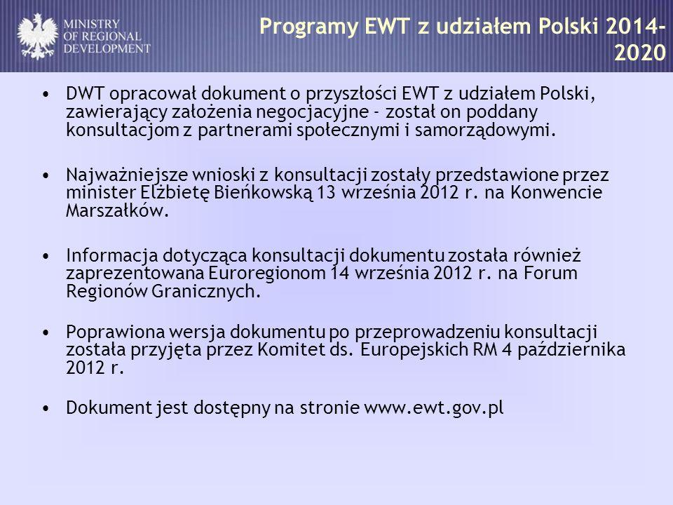 Programy EWT z udziałem Polski 2014-2020