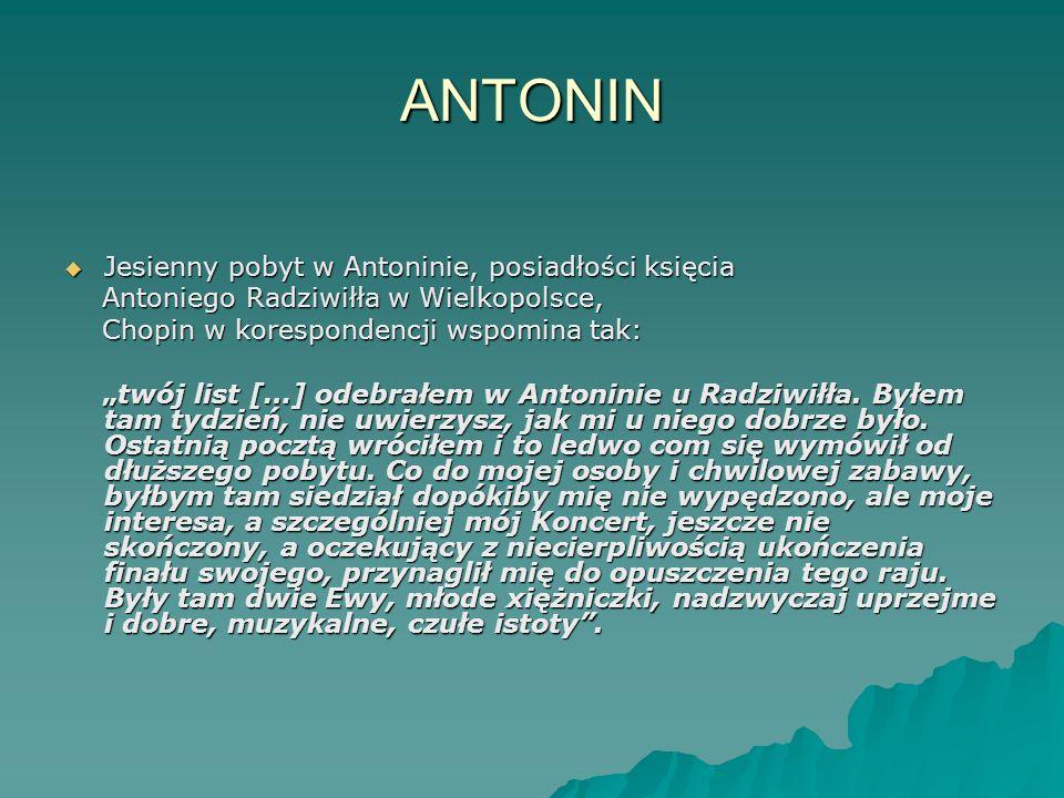 ANTONIN Jesienny pobyt w Antoninie, posiadłości księcia