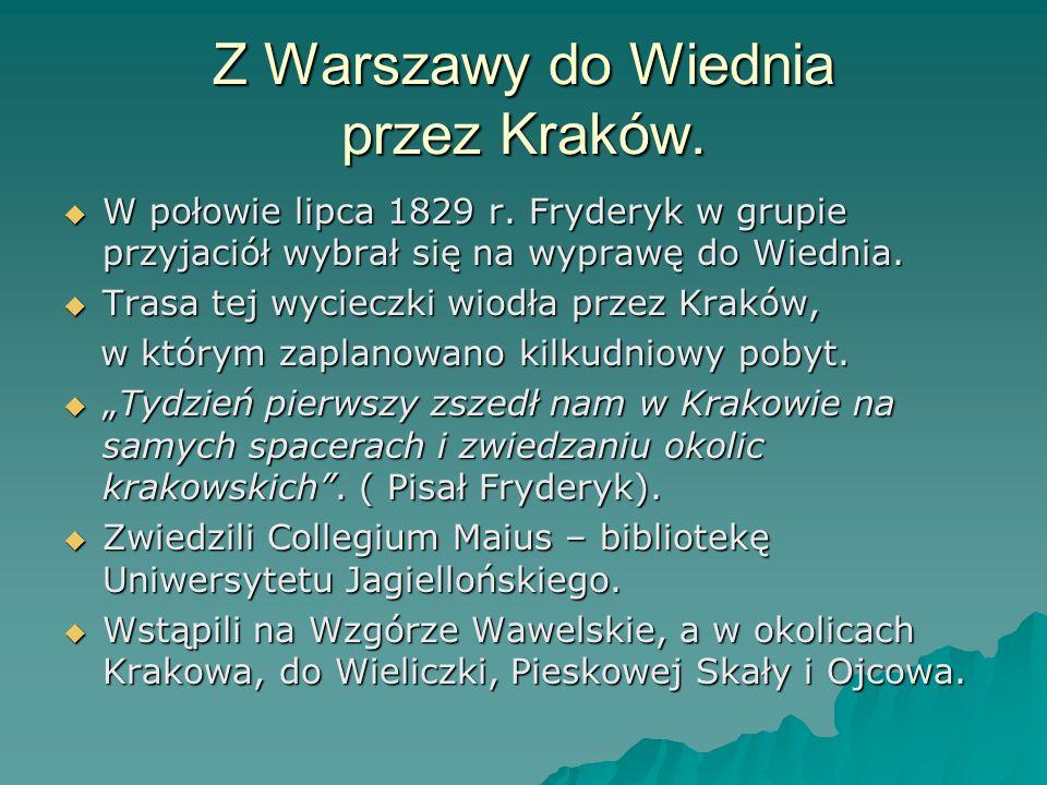 Z Warszawy do Wiednia przez Kraków.