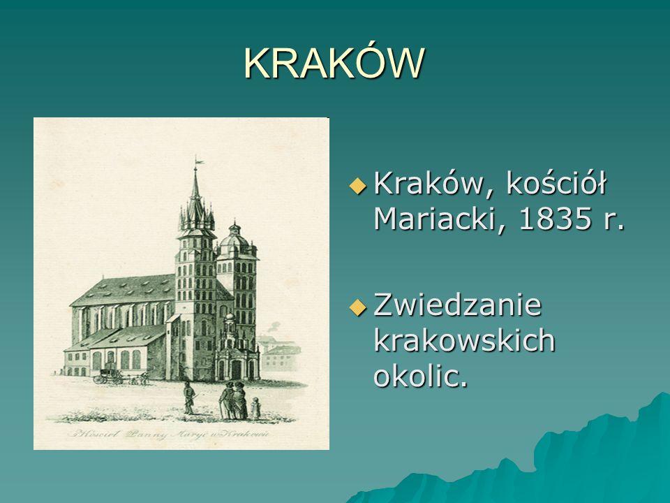 KRAKÓW Kraków, kościół Mariacki, 1835 r.