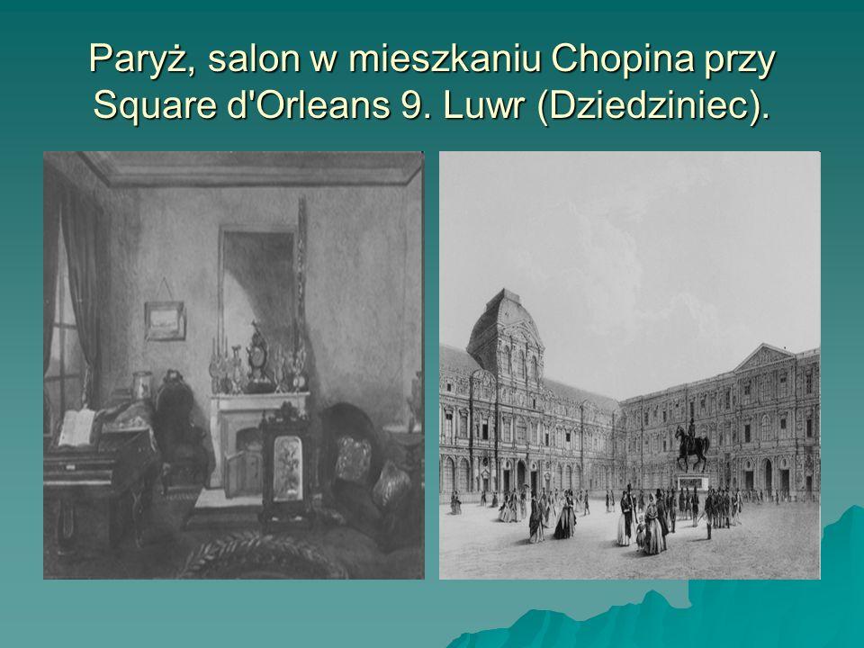 Paryż, salon w mieszkaniu Chopina przy Square d Orleans 9