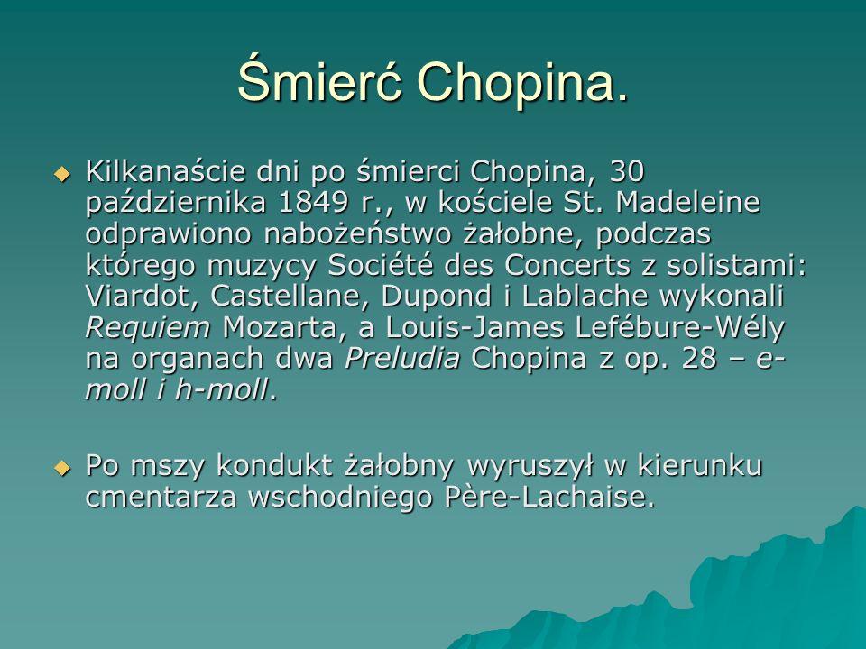 Śmierć Chopina.