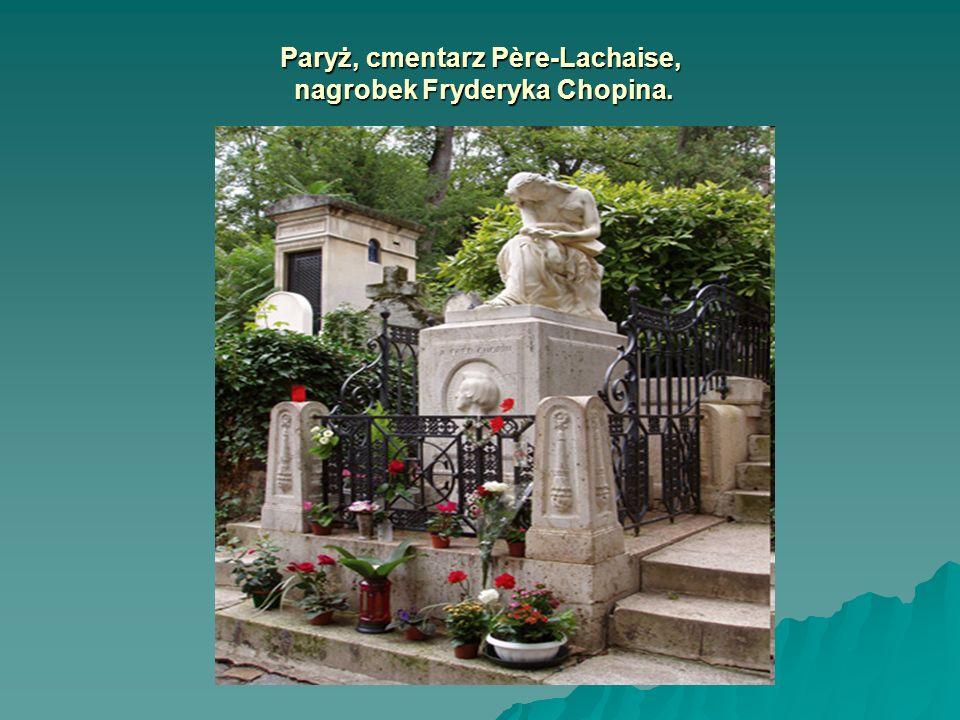 Paryż, cmentarz Père-Lachaise, nagrobek Fryderyka Chopina.
