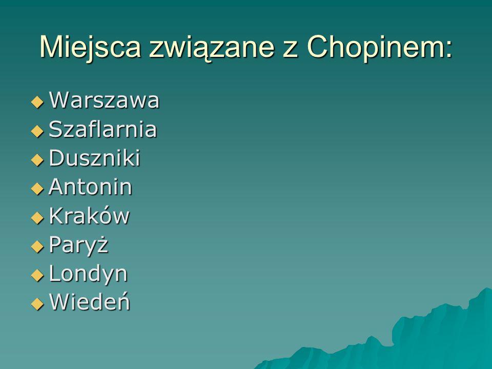 Miejsca związane z Chopinem: