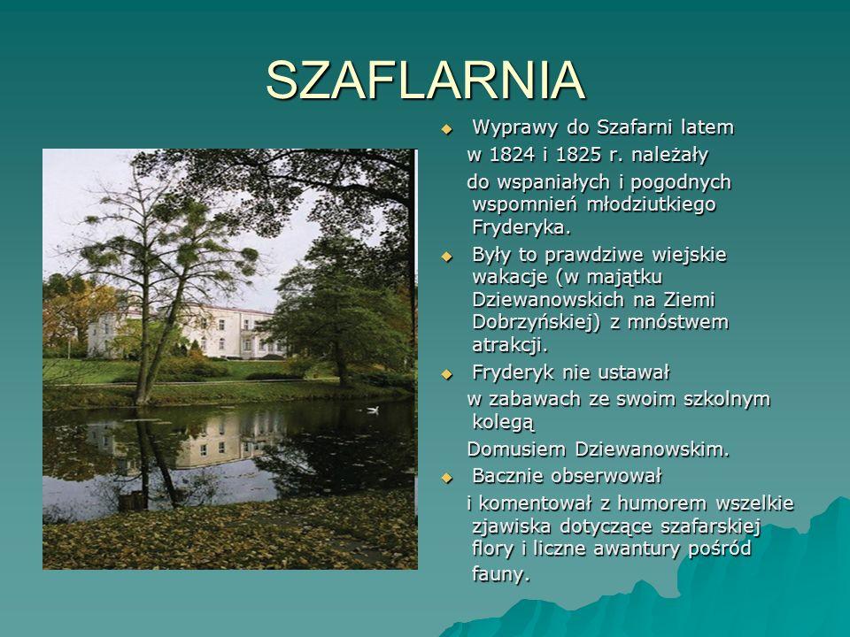 SZAFLARNIA Wyprawy do Szafarni latem w 1824 i 1825 r. należały