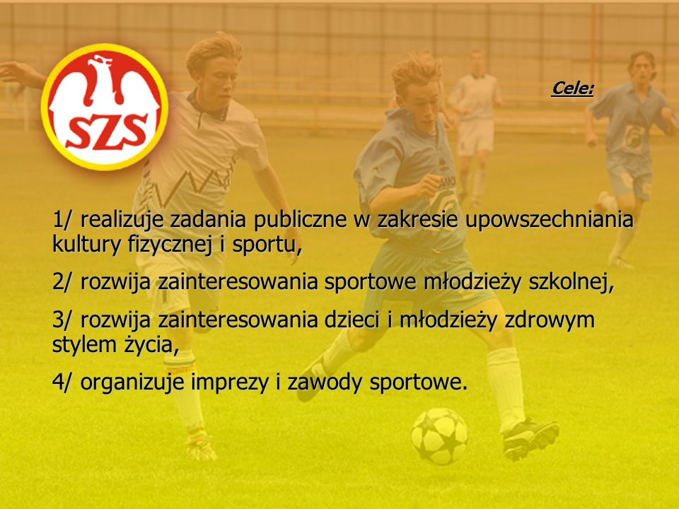 2/ rozwija zainteresowania sportowe młodzieży szkolnej,