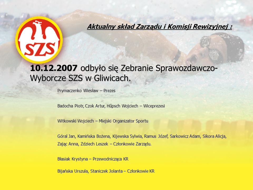 10.12.2007 odbyło się Zebranie Sprawozdawczo-Wyborcze SZS w Gliwicach.