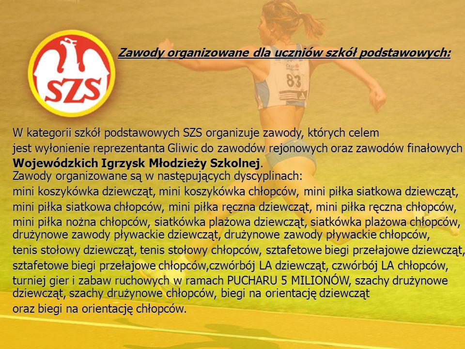 Zawody organizowane dla uczniów szkół podstawowych: