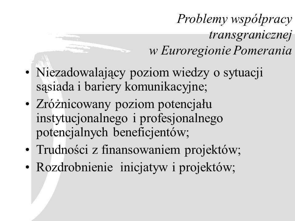 Problemy współpracy transgranicznej w Euroregionie Pomerania