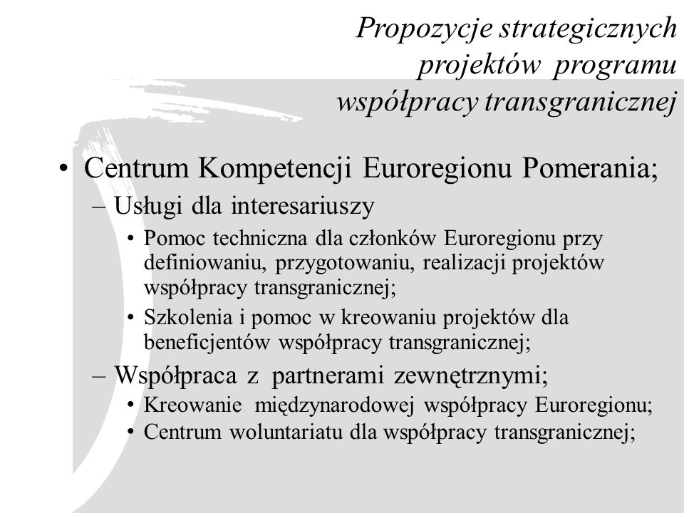 Centrum Kompetencji Euroregionu Pomerania;