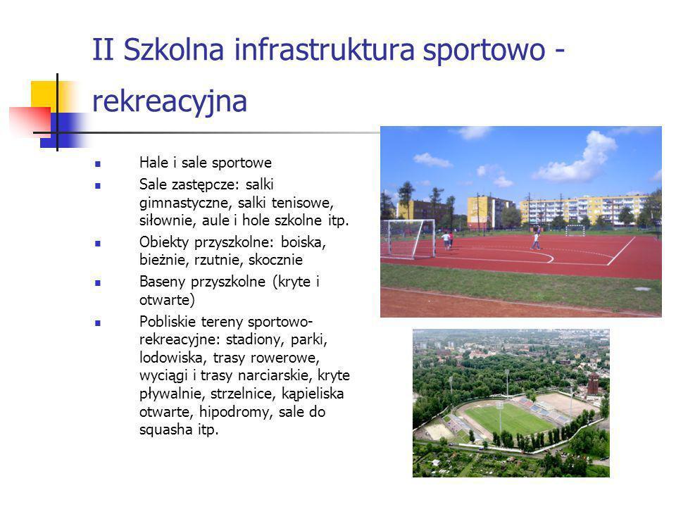 II Szkolna infrastruktura sportowo - rekreacyjna