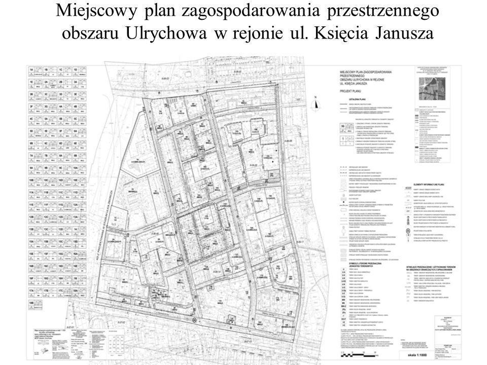 Miejscowy plan zagospodarowania przestrzennego obszaru Ulrychowa w rejonie ul. Księcia Janusza