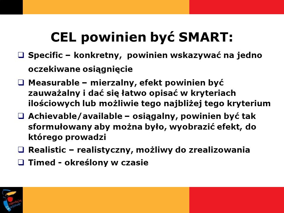CEL powinien być SMART: