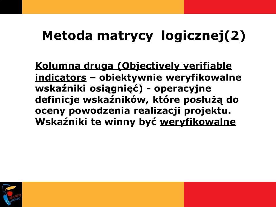 Metoda matrycy logicznej(2)