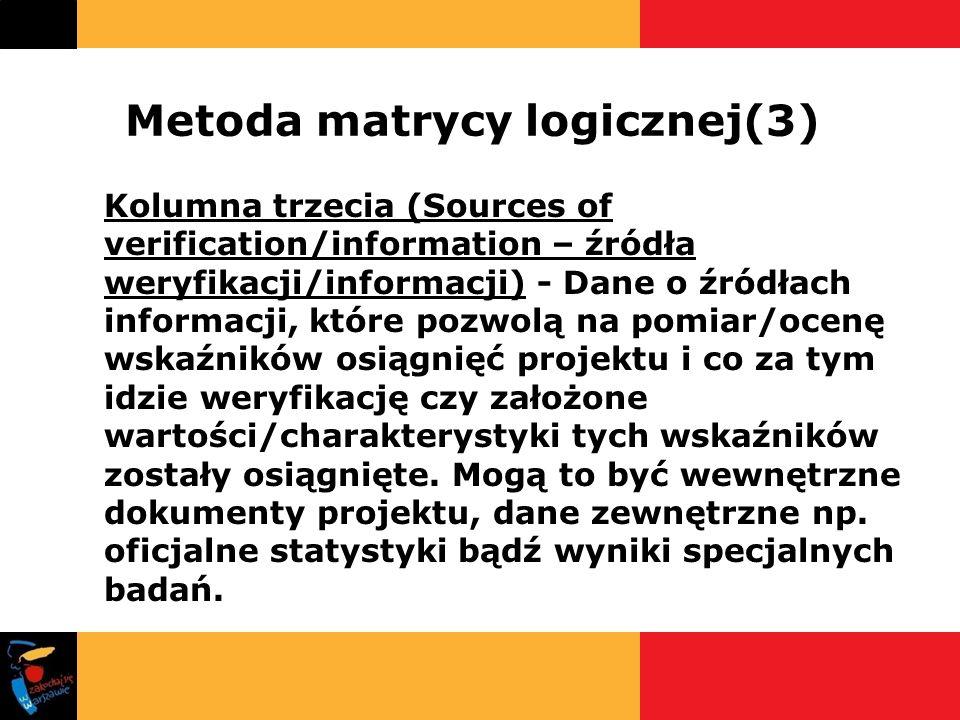 Metoda matrycy logicznej(3)