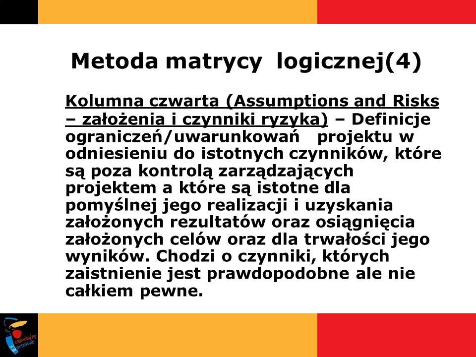 Metoda matrycy logicznej(4)