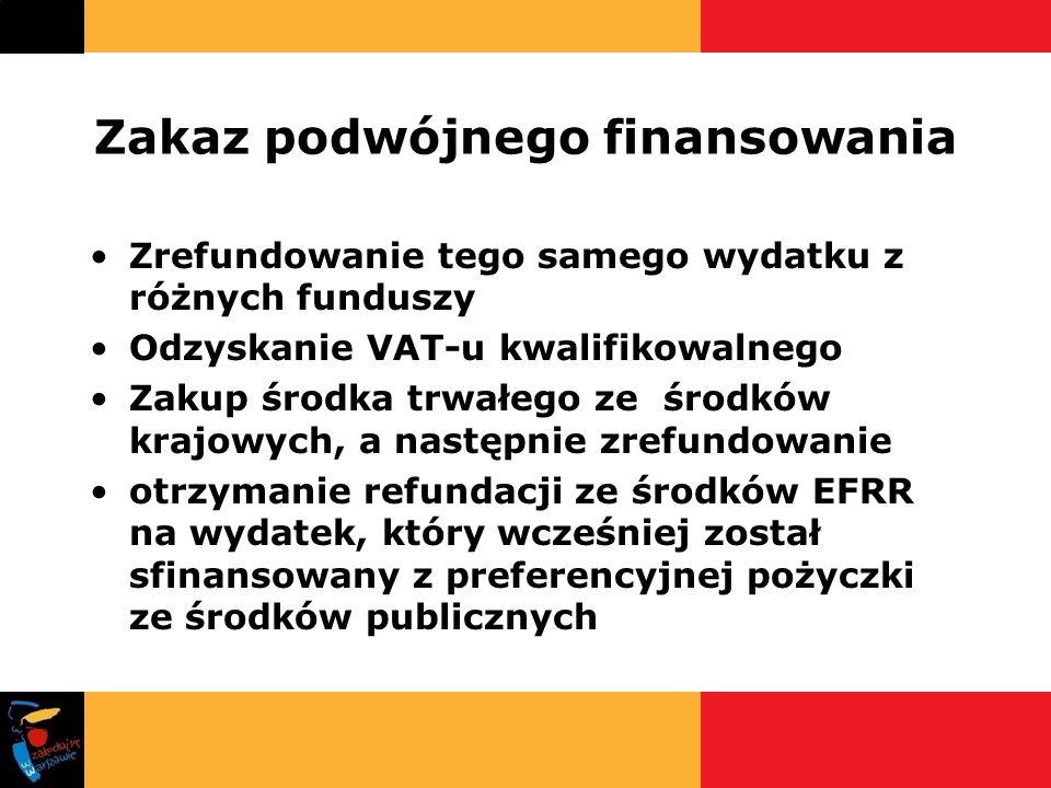 Zakaz podwójnego finansowania