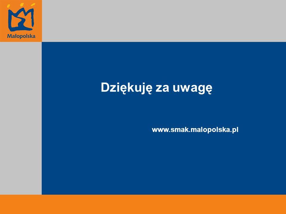 Dziękuję za uwagę www.smak.malopolska.pl