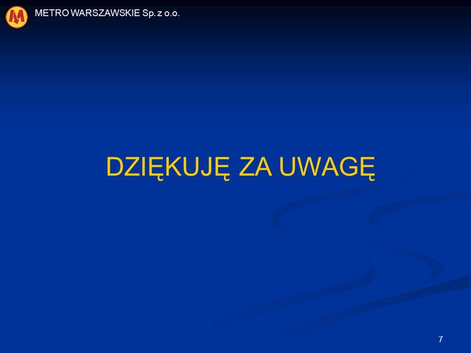 METRO WARSZAWSKIE Sp. z o.o.