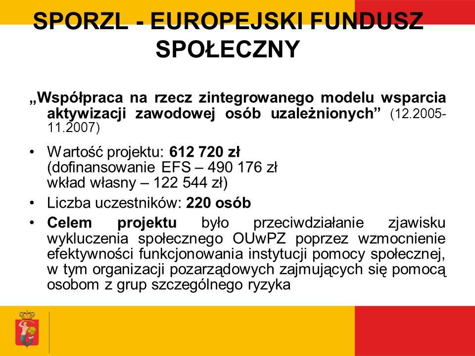 SPORZL - EUROPEJSKI FUNDUSZ SPOŁECZNY
