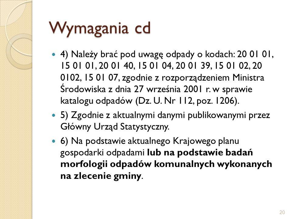 Wymagania cd