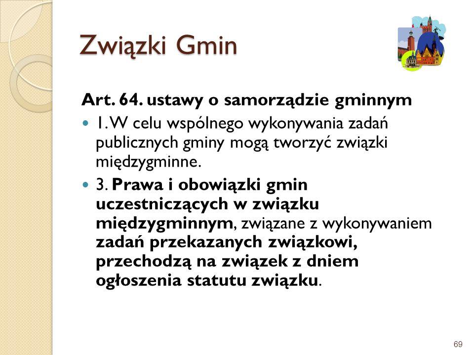 Związki Gmin Art. 64. ustawy o samorządzie gminnym