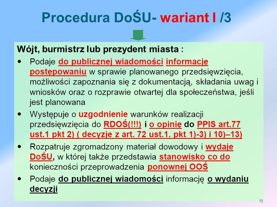 Procedura DoŚU- wariant I /3