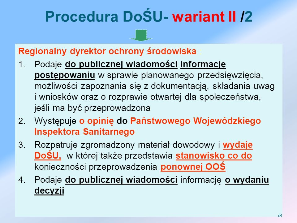 Procedura DoŚU- wariant II /2